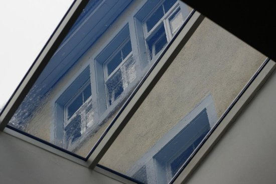 The Black Forest Hostel: View through a skylight