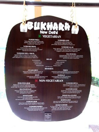 This tablet has the entire menu on offer at Bukhara