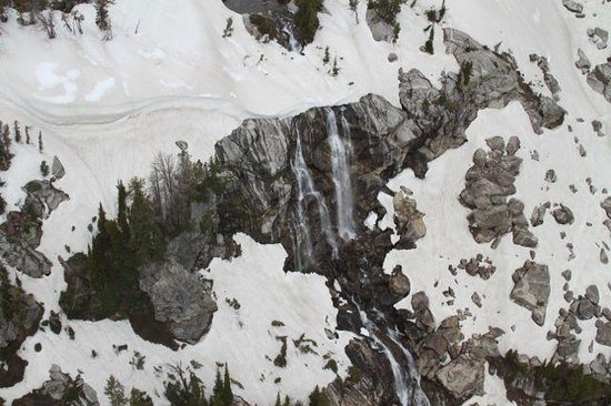 Rocky Mountain Rotors: Flying down Cascade Canyon sideways taking waterfall pictures.
