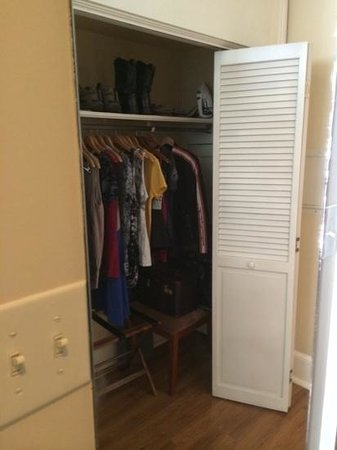Grenoble House: huge closets (this is only 1/2 the closet)