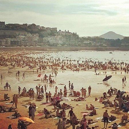 Playa de La Concha: La Concha de San Sebastián.