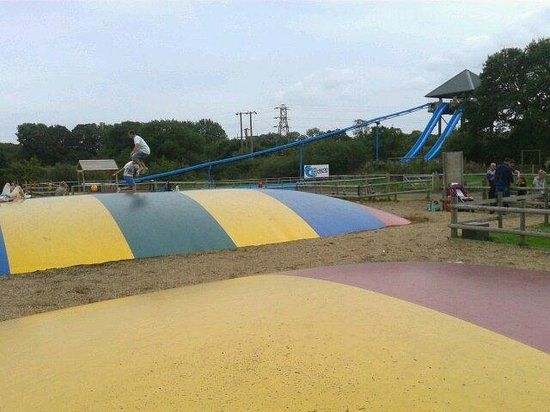 Knockhatch Adventure Park: Bouncy pillows and Wave Runner.