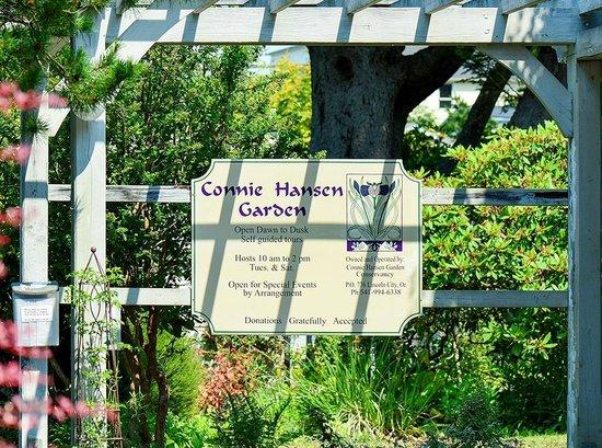 Connie Hansen Garden Conservancy: Sign