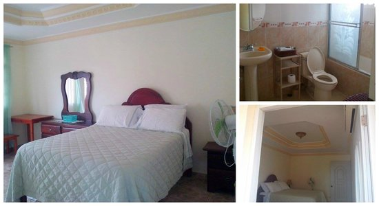 Miguelina's Guest House : Bedroom and Bathroom