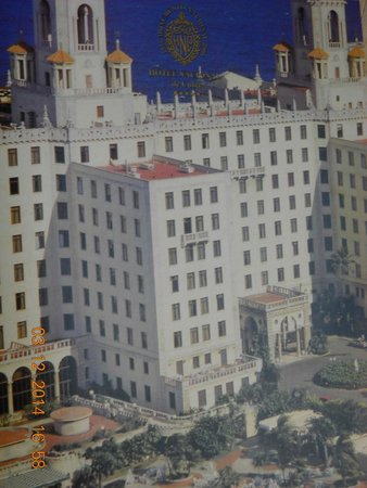 Hotel Nacional de Cuba: A picture I took of a picture. The long avenue of palms won't allow you a shot of the hotel.