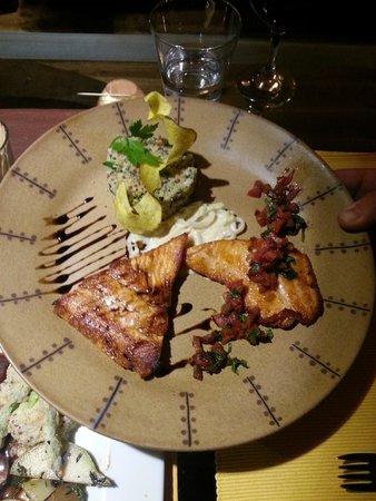 El Huacatay: Peruvian trout with quinoa