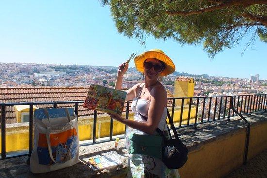 Miradouro da Graça : Пленэр на смотровой площадке...