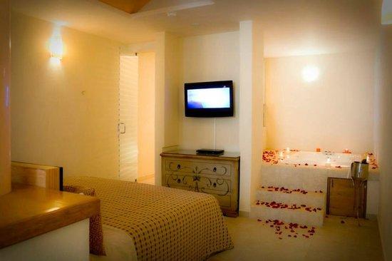 flamingos auto hotel interior habitacion de lujo con jacuzzi