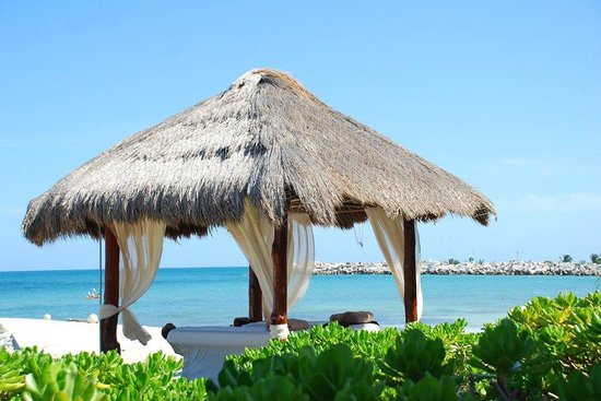Hotel Marina El Cid Spa & Beach Resort : Palapa Huts on water's edge.