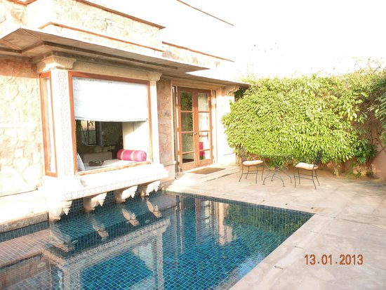 Tree of Life Resort & Spa Jaipur : Swimming Pool Running Behind Villa