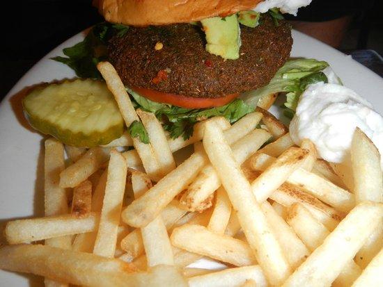 Shish Mediterranean Grill & Cafe: falafel burger