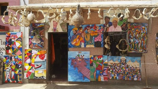 Santa Maria, Cape Verde: The shop from outside