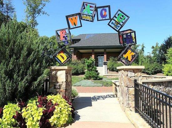Drive thru entrance picture of gateway gardens for Garden gateway