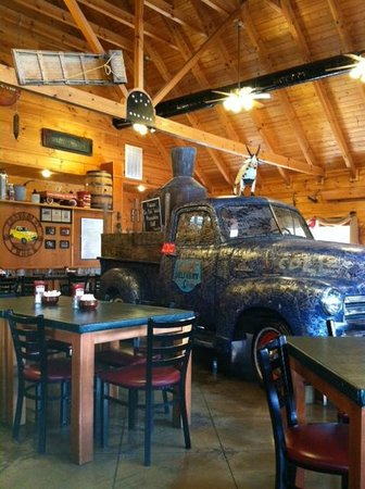 Hillbilly Restaurant Decor Inside Is Cool And It A Fun Little Place We