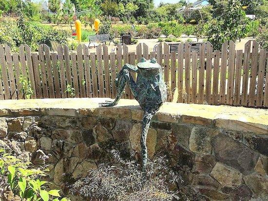 Water frog sculpture picture of gateway gardens for Garden gateway