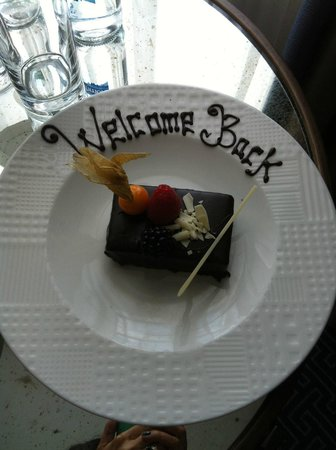 The Waldorf Hilton London: Nice touch!!!!