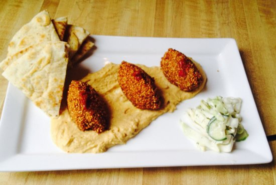 Happy Gnome: filafel Appetizer with humus