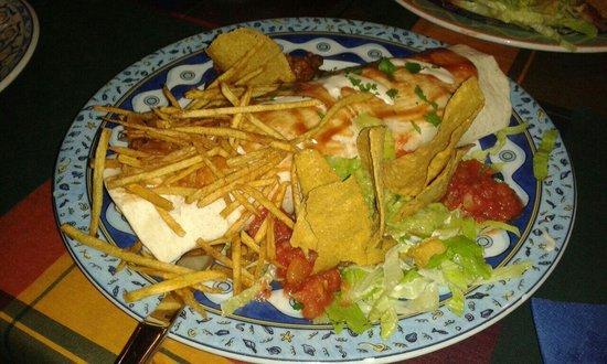 Cactus Alicante : Burrito de pollo. Delicioso