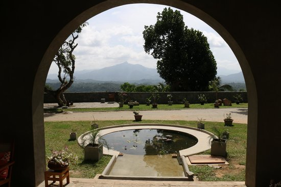 Elephant Stables: View from the entrance porch out to the mountains