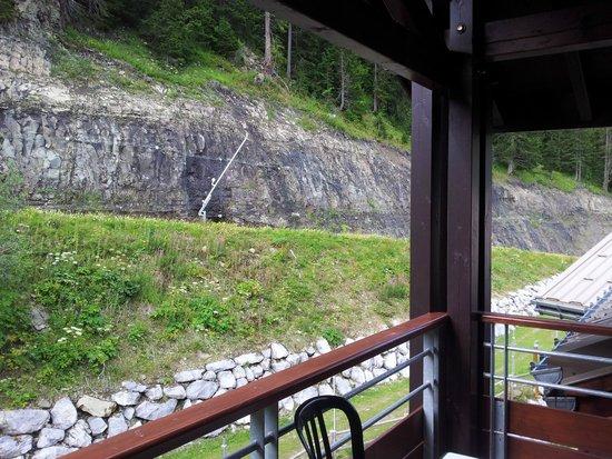 Pierre & Vacances Premium Residence Les Terrasses d'Eos: Vue du balcon limitée