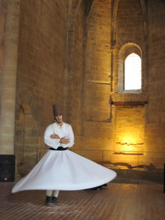 Whirling Dervish Performance Nicosia: Whirling Dervish in full swing.