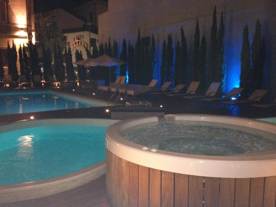 Hotel Manzoni : Piscine by night