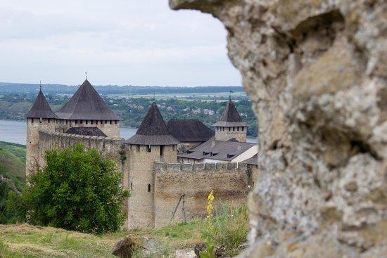 Khotyn, Ukraina: Вид на Хотинскую крепость