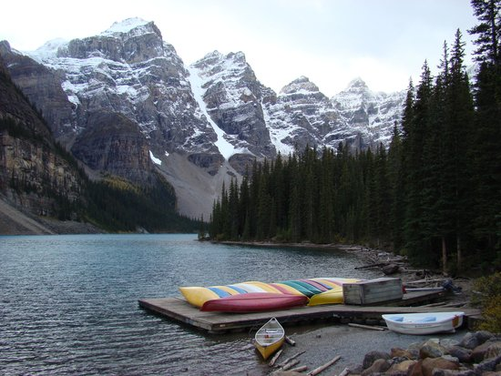 Canoes Picture Of Moraine Lake Lodge Lake Louise