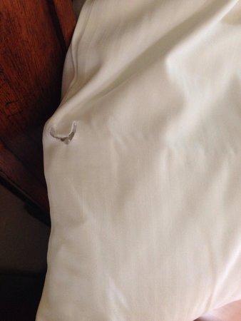 Verdanza Hotel : Holes in sheets