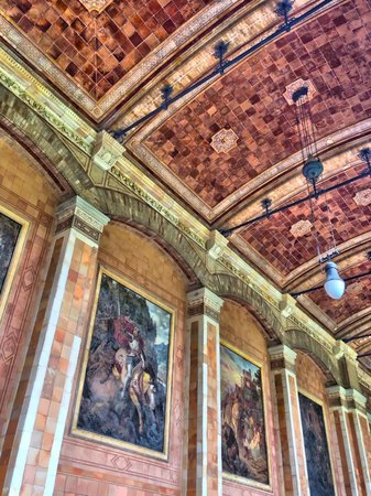 Pump Room (Trinkhalle): Frescos