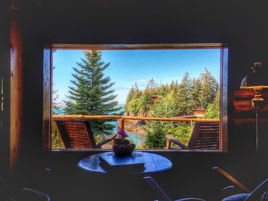 Kachemak Bay Wilderness Lodge: Cliff House view