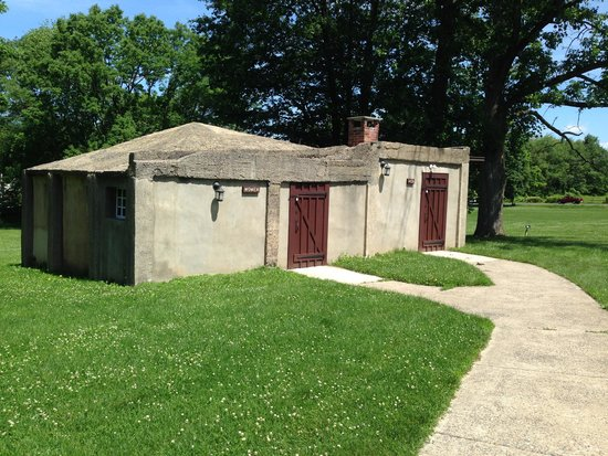 Moravian Tile and Pottery Works: Restrooms