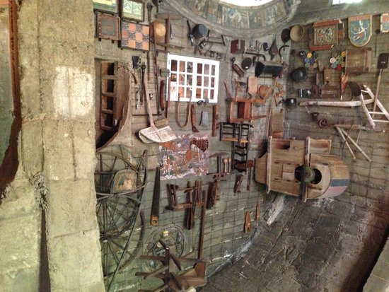 Moravian Pottery and Tile Works: The wall of the Great Room