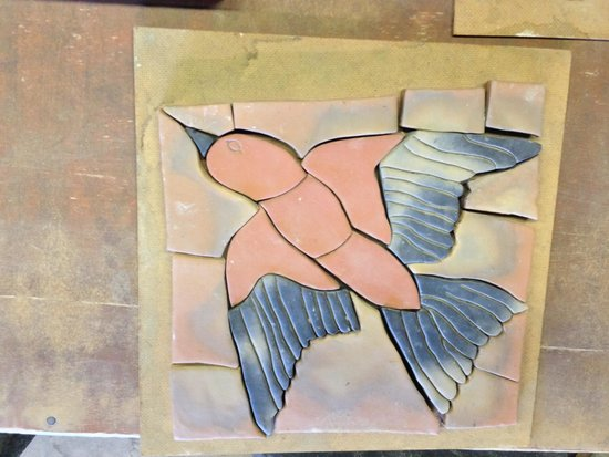 Moravian Pottery and Tile Works: Clay tile
