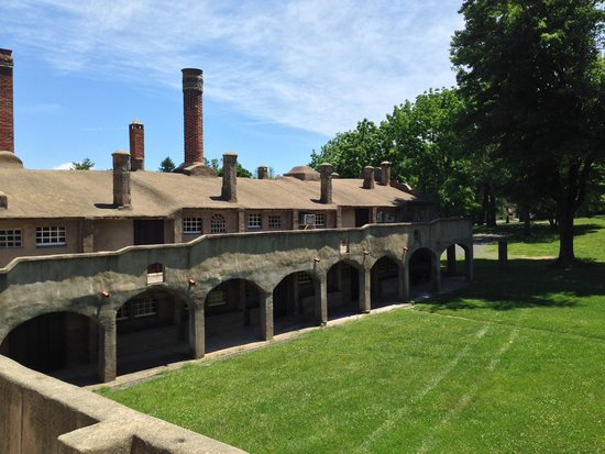 Moravian Pottery and Tile Works: Outdoor view