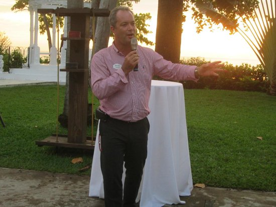 Beaches Negril Resort & Spa: Mr Adrian Whitehead GM at Beaches Negril at SSG reception