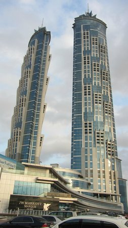 JW Marriott Marquis Hotel Dubai: Twin Towers - highest Hotel in the world