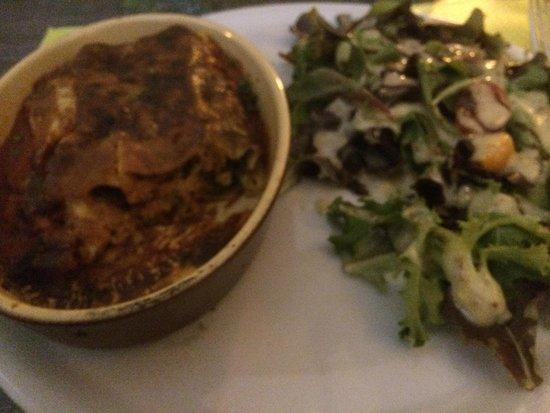 L'arlequin: cannelloni brousse et epinard