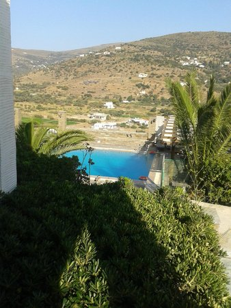 Nicolas Hotel Apartments: Πισίνα από Δωμάτιο