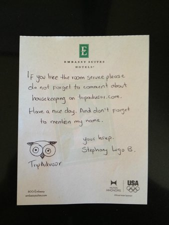 Embassy Suites by Hilton Fort Myers - Estero: Stephany Lugo maid service was great
