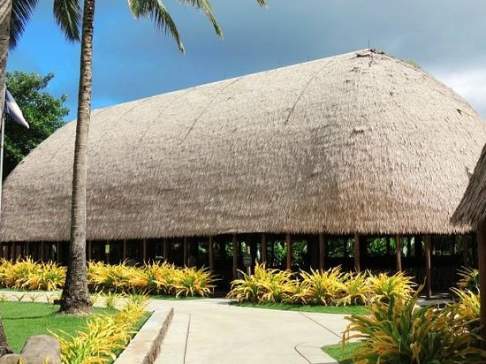 Polynesian Cultural Center : Traditional hut.