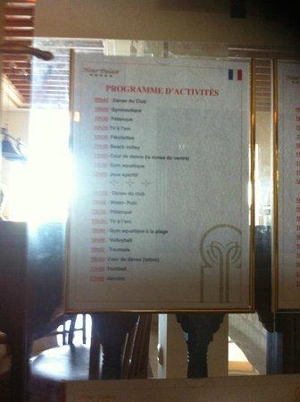 Nour Palace Resort : Liste des activités