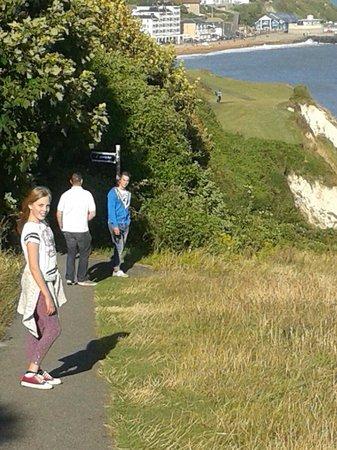 Manser B&B: Walking to ventnor from back gate