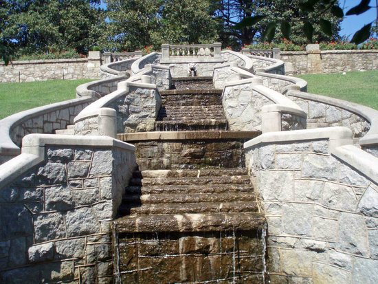 Maymont: Stone staircase and waterfall