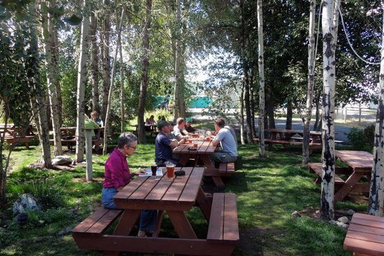 Terminal Gravity Brewery & Pub: picnic area at Terminal Gravity