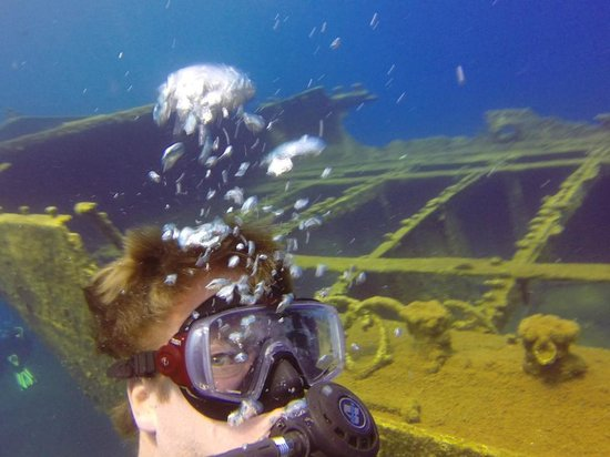 Aegean Divers Dive Center - Day Excursions: Wreck dive off the coast of Santorini, Greece