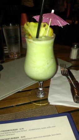 Keoki's Paradise: frozen pineapple mojito