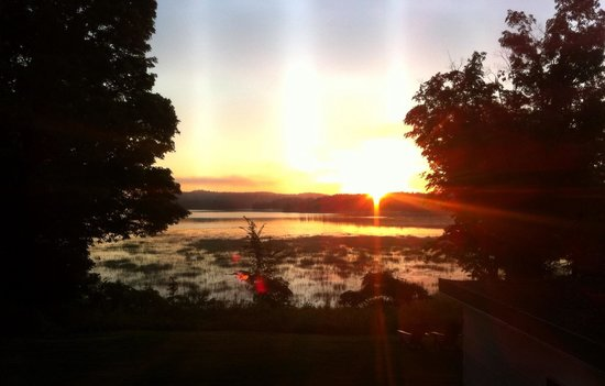 Gilmour, Canada: View of the sunrise from our room.