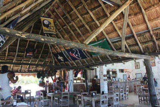 Playa Bonita: Steelers Beach Bar!!!