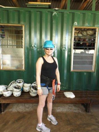 Rainforest Adventures Jamaica : Start of the zip line